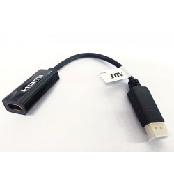 320-00095 ADATTATORE DP-HDMI M/F HQ CON CAVO ADJ 8058773839039 ADJ