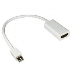 MDP-HDMI-3D ADATTATORE MDP-HDMI M/F 4K-3D BIANCO 0,17M 4032528017198 INXTRON