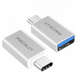 UCUAF2 ADATTATORE USB-C 3.1 A USB-A MACALL USB-A FEMMINA (MJ1M2M) 2PACK TYPE C 8717278765389 MACALLY
