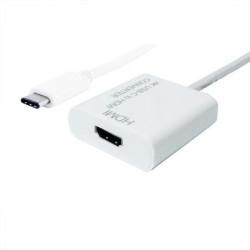 12.99.3210 ADATTATORE USB 3.1 TYPE C-HDMI M/F TYPE C CON CAVO VALUE 7611990150830 ROLINE/VALUE