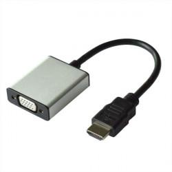 12.99.3119 ADATTATORE HDMI-VGA M/F + AUDIO CON CAVO VALUE 7611990142712 ROLINE/VALUE