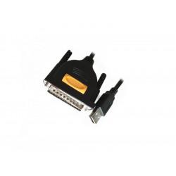320-00031 CAVO CONVERTITORE USB/PARARELLA BK COMPATIBILE BI-DIREZIONALE ADJ 8053251239905 ADJ