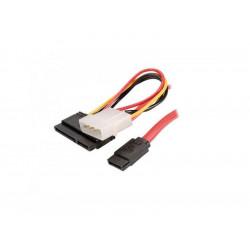 320-00049 CAVO FLAT SATA POWER&DATA 0,5MT RD ADJ 8053251239639 ADJ