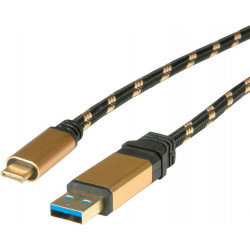 11.02.9013 CAVO USB 3.1 A-C 1MT M/M TYPE C GOLD ROLINE 7611990152575 ROLINE/VALUE