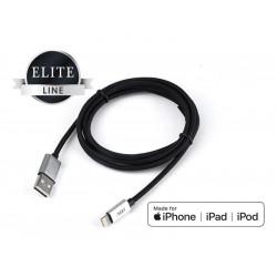 110-00082 CAVO USB 2.0 LIGHTNING 1.5MT MFI BK RIVEST.NYLON/CONN.METALLO ADJ 8058773830869 ADJ