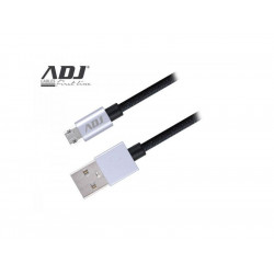 110-00089 CAVO USB 2.0 A-MICRO A 1,5MT BK NYLON/CONN.REVERSIBILI AI219 ADJ 8058773833778 ADJ