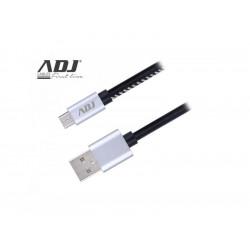 110-00092 CAVO USB 2.0 A-MICRO A 1 MT RIVEST BK PELLE/CONN.METALLICI AIUMR ADJ 8058773833808 ADJ