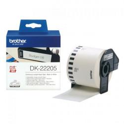 DK22205 ETICHETTE BROTHER DK22205 IN CARTA 62MM X 30,48M NERO SU BIANCO 4977766628198 BROTHER