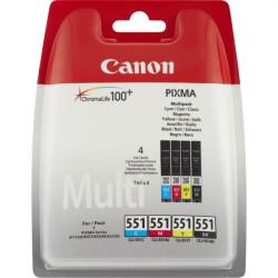 6509B008 INK CANON CLI-551 NERO/MAGENTA/ CIANO/GIALLO PER MG5450 4MLX4PZ 8714574584409 CANON
