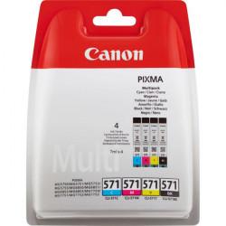 0386C004 INK CANON CLI-571CMYK MULTIPACK NERO + COLORI PER PIXMA MG 7700 8714574631813 CANON