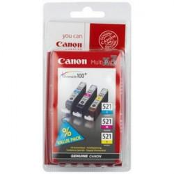 2934B010 INK CANON CLI521 MULTIPACK CIANO/ MAGENTA/GIALLO PER PIXMA MP540 8714574525808 CANON