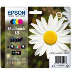 C13T18064010 INK EPSON 18 MULTIPACK NERO + CLR PER EXPRESSION HOME XP30 8715946518169 EPSON