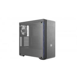 MCB-B600L-KA5N-S01 CASE MID-TOWER NO PSU MASTERBOX MB600L 2USB3 BLACK BLUE WINDOW PANE