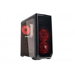 CS1118CZ-X2K532 CASE MID-TOWER NO PSU NOOB X2 BLK 1USB3 2USB2 PLEXIGLASS RED FAN 8053323501404 NOUA