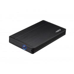 """120-00006 BOX 2.5"""" SATA TO USB 3.0 MAX 2TB BK AH650 BOX MAX HDD 12,5 MM ADJ 4213876314102 ADJ"""
