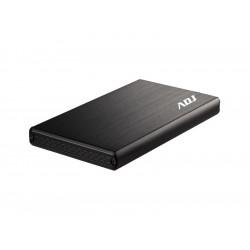 """120-00012 BOX 2.5"""" SATA TO USB 2.0 MAX 2TB BK AH621 BOX MAX HDD 9,5 MM ADJ 4214067314109 ADJ"""