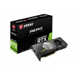 RTX 2080 AERO 8G VGA MSI NVIDIA RTX 2080 AERO 8G OC 8GB DDR6 1HDMI DP 1USB C 4719072596859 MSI