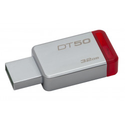 DT50/32GB PEN DRIVE 3.1 32GB DT50 KINGSTON SILVER/RED 740617255690 KINGSTON