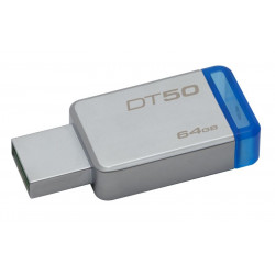 DT50/64GB PEN DRIVE 3.1 64GB DT50 KINGSTON SILVER/BLU 740617255751 KINGSTON