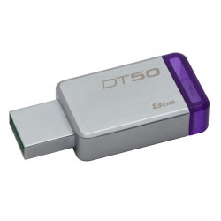 DT50/8GB PEN DRIVE 3.1 8GB DT50 KINGSTON SILVER/VIOLA 740617255577 KINGSTON