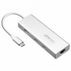 UCDOCK MINIDOCK TYPE C A USB-A/C-HDMI-ETH 8717278769387 MACALLY