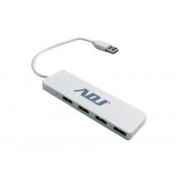 143-00017 HUB USB 2.0 4P TETRA WH COMPATIBILE USB1.0/2.0 NOTEBOOK ADJ 8058773838452 ADJ
