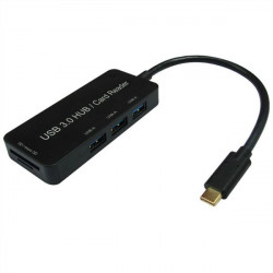 15.99.6252 HUB USB 3.0 TYPE C 3P USB-A 3.1 + CARD READER 7611990149919 ROLINE/VALUE