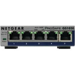 GS105E-200PES SWITCH 5P GIGABIT DESKTOP METAL CAS E 0606449101522 NETGEAR