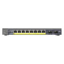 GS110TP-200EUS SWITCH 8P GIGABIT +2SLOT PER GIGABI T SFP 0606449103793 NETGEAR