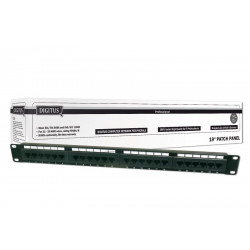 "DN91524U PATCH PANEL 24 PORTE NON SCHERMATO UTP CAT5E 8 POLI RACK 19"" 4016032241461 DIGITUS"