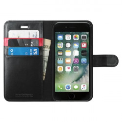CUSTODIA IPHONE 7 WALLET S BLACK PELLE