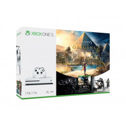234-00234 MICROSOFT XBOX ONE S 1TB INCLUS USK 18 ASSASSINS AND RAINBOX SIXX 889842214062 MICROSOFT