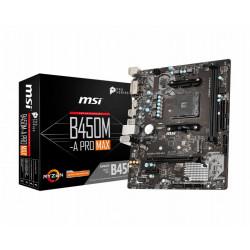 B450M-A PRO MAX MB MSI B450M-A PRO MAX AM4 RYZEN 2D 6S3 1M.2 6U3 PCIE GBLAN D/H RAID  MSI MICROSTAR