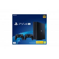 9790716 SONY PLAYSTATION PRO 1TB GAMMA BLAC K PS4 + 2 DUALSHOCK 711719790716 SONY