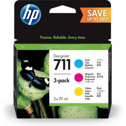 INK HP MULTIPACK P2V32A N711 CIANO/MAGENTA/GIALLO 2X29ML