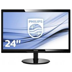"""MON 24""""W-LED VGA DVI VESA PHILIPS 246V5LSB 16:9 1000:1 5MS"""