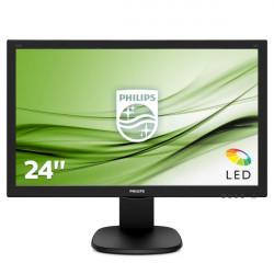 """MON 23,6""""W-LED MM VGA HDMI DVI 1MS PHILIPS 243S5LDAB 16:9 1000:1"""