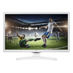 """TV MONITOR 23,6"""" LG HD WHITE HDMI/USB/VESA"""